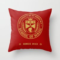 The Student Prince -  University of St Andrews School of Magic Throw Pillow