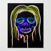 Face Illustration 2 Canvas Print