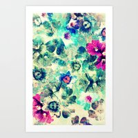 VINTAGE FLOWERS XXXVII - for iphone Art Print