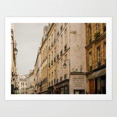 Paris streets I Art Print