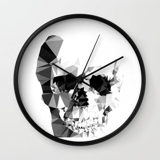 Crystal Skull Wall Clock