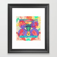 And Then Nothing. Framed Art Print