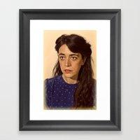 I.am.nerd. :: Claire T. Framed Art Print