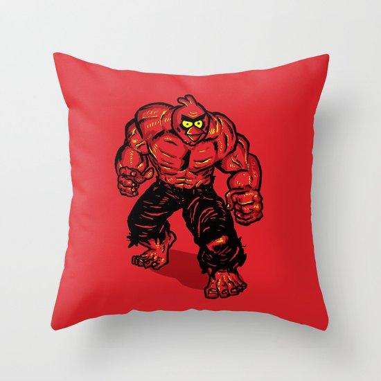 Angry Bird hulk Red Throw Pillow