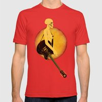 Skull Of Rock Mens Fitted Tee Red SMALL