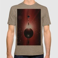 Red Star And Black Plane… Mens Fitted Tee Tri-Coffee SMALL