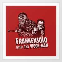 Frankensolo Meets The Wo… Art Print
