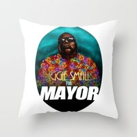 Biggie Smalls for Mayor Throw Pillow