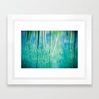 Abstract birches reflections II Framed Art Print