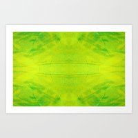 Yellow and Green Stripes Art Print