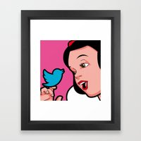 Snow Tweet Framed Art Print