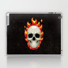 Flaming Skull Laptop & iPad Skin