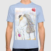 Two Balloons Mens Fitted Tee Tri-Blue SMALL
