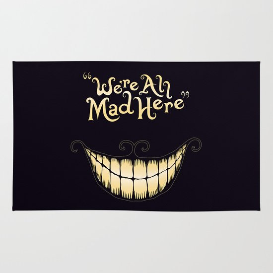 We're All Mad Here Area & Throw Rug