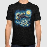 Starry Flight (Serenity) Mens Fitted Tee Tri-Black SMALL