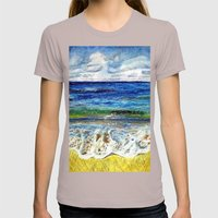 CRAYON LOVE - La mer Womens Fitted Tee Cinder SMALL