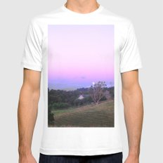 Strange Moon Rising SMALL White Mens Fitted Tee