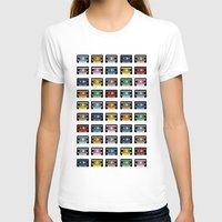 80 Rainbow Tapes Womens Fitted Tee White SMALL