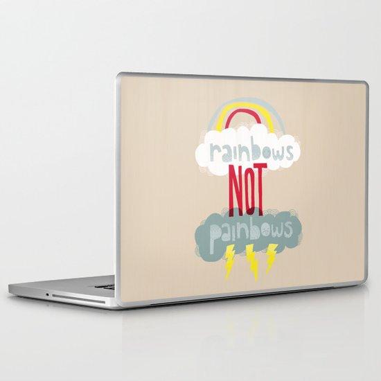 RAINBOWS NOT PAINBOWS Laptop & iPad Skin