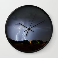 Lightning Triple Play Wall Clock