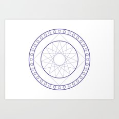 Anime Magic Circle 16 Art Print