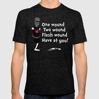 One Wound, Two Wound....… Mens Fitted Tee Tri-Black SMALL