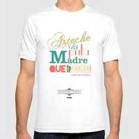 Argentina Cinema Mens Fitted Tee White SMALL