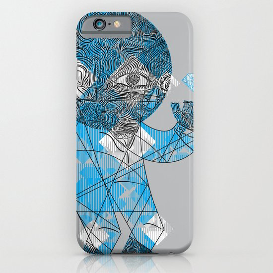 mesmerized by the light blue diamond iPhone & iPod Case
