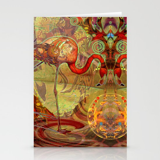 Flamingos Stationery Card