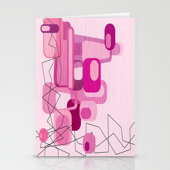 In The Pink Stationery Card
