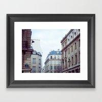 PIECE OF SKY. Framed Art Print