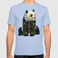 Panda Ochre Mens Fitted Tee Tri-Blue SMALL