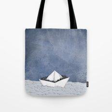 Escape boat Tote Bag