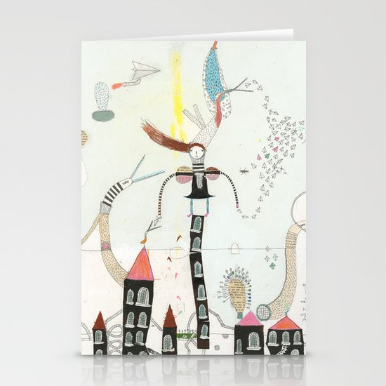 Desire creates the power. Stationery Card