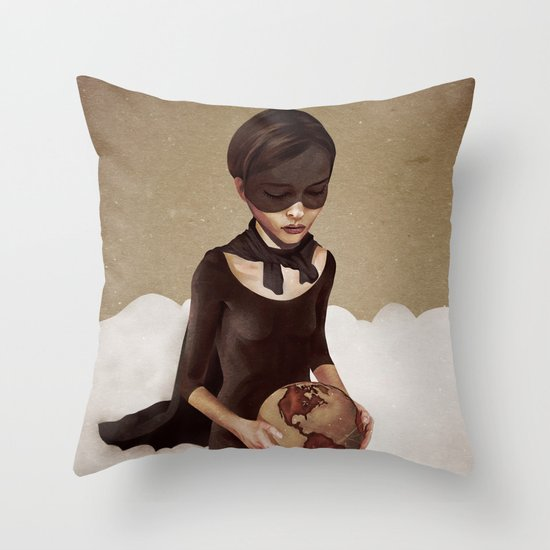 With Great Power Throw Pillow