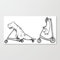 T-Rex and Pal Canvas Print