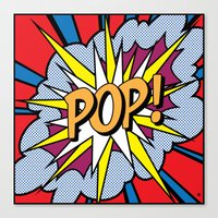 POP Art Exclamation Canvas Print