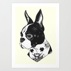 Dog - Tattooed BostonTerrier Art Print