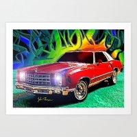 1976 Chevy Monte Carlo Art Print