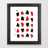 Queen Of Hearts Framed Art Print