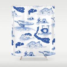 Pop Porcelain- Final Frontier  Shower Curtain