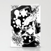 black whıte Stationery Cards