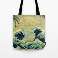 The Great Blue Embrace A… Tote Bag