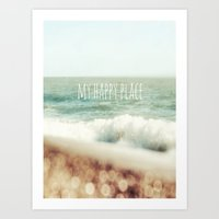 Beach - My Happy Place Art Print