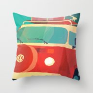 Throw Pillow featuring Kombi Klose 3 by Buster Fidez