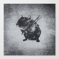 Angry Street Art Mouse /… Canvas Print