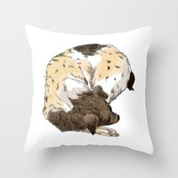 Sleeping Dog #002 Throw Pillow