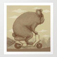 Adventure Ride Art Print