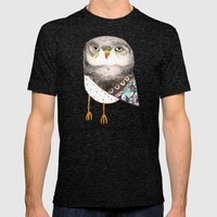 Owl By Ashley Percival Mens Fitted Tee Tri-Black SMALL