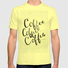COFFEE COFFEE COFFEE Mens Fitted Tee Lemon SMALL